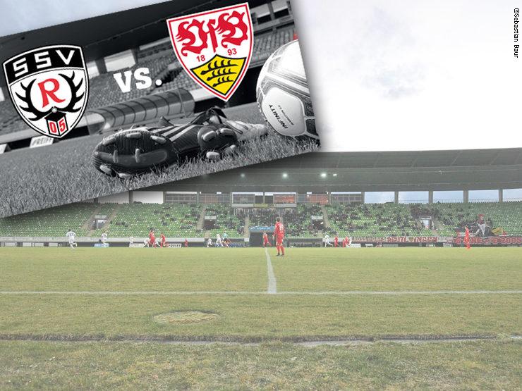 Messe Mobilität beim Spiel SSV Reutlingen 05 gegen den VFB Stuttgart am 13. Juli