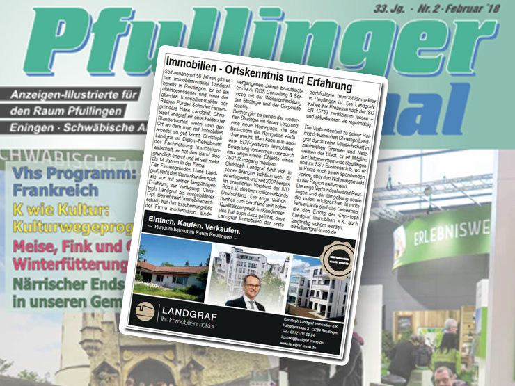 Pressetext im Pfullinger Journal – Magazin und Homepage
