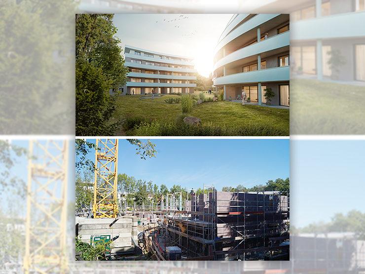 Baufortschritt Wohnungsprojekt Metzingen