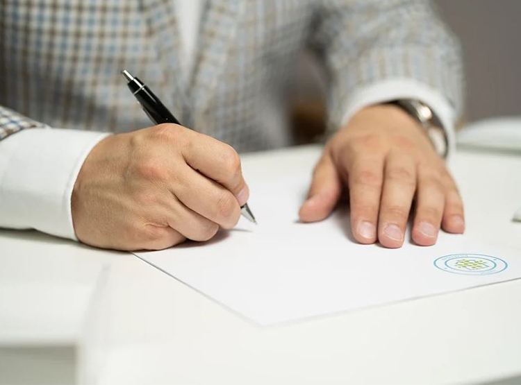 Baulast Stift Papier Mann