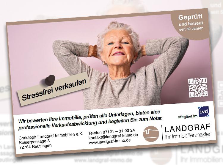 Anzeige im Reutlinger Generalanzeiger