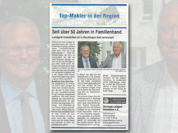 Top-Makler in Reutlingen und der Region